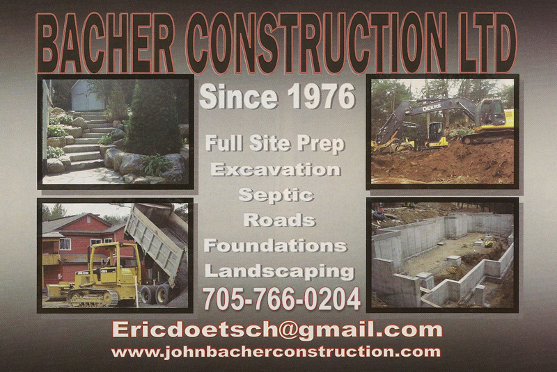 Bacher Construction since 1976 | Full site prep excavation